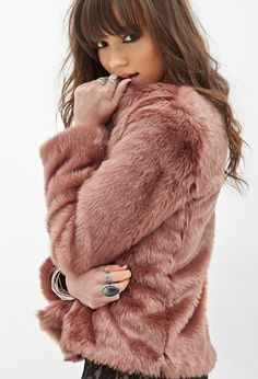 Forever 21 Canada - Collarless Faux Fur Jacket CAD $53.80