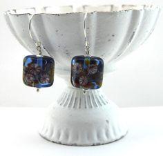 lampwork beads & sterling silver earrings by DesignsbyCaz on Etsy, £17.00