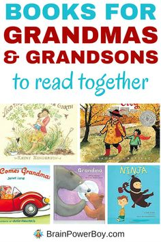 8 great books for Grandmas and their Grandsons to read together. Funny books that boys will like, as well as super sweet books that are guaranteed to get them cuddling up with Grandma, this is the best selection of books for Grandmothers and their Grandsons. These titles make a nice gift for grandma or a young boy. Click image to see all eight books.