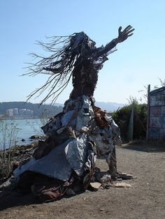Scrap sculpture at Albany Bulb, California