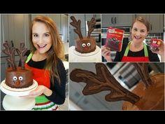 How to Make a Christmas Reindeer Cake - YouTube