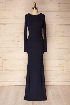 Haro Navy #lapetitegarconne #dress #promdress #formfitting #navy #green #openback