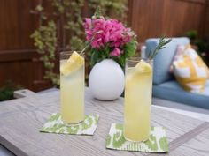 Pina Perfected Cocktail - tequila, pineapple juice, lime juice, agave, rosemary, prosecco