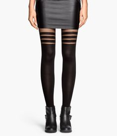 Striped Tights - from H&M from H&M. Saved to My Wishlist. Shop more products from H&M on Wanelo. Striped Stockings, Striped Tights, Patterned Tights, Black Tights, Pantyhose Fashion, Fashion Tights, Sequins And Stripes, Pantyhose Lovers, Leggings