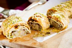 Feijoa honey and pistachio strudel recipe, Viva – Feijoas are scrumptious with flavours of honey and pistachios wrapped in filo pastryampnbsp – bite.co.nz