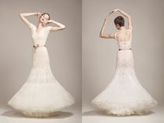 Bridal | KV Couture (hand knitted wedding gowns inspired by estonian haapsalu shawls)