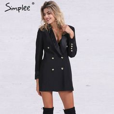 ab8798af530 Cheap jacket everlast, Buy Quality coats auto directly from China coat  waist Suppliers: Simplee Apparel OL double breasted long suit blazer femme  Autumn ...