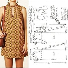 FREE PATTERN ALERT: Pants and Skirts Sewing Tutorials - On the Cutting Floor: Printable pdf sewing patterns and tutorials for women Dress Sewing Patterns, Sewing Patterns Free, Clothing Patterns, Fashion Sewing, Diy Fashion, Fashion Outfits, Diy Clothing, Sewing Clothes, Mode Batik