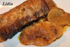 Costillas de cerdo al horno con cerveza y tomillo