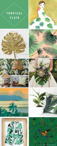 Tropical leaves make an on-trend comeback - Think.Make.Share.