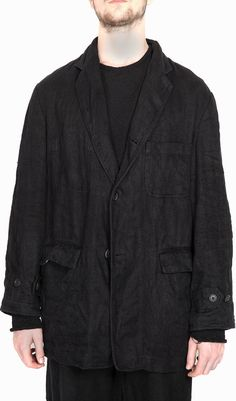 Forme D expression Oversized Work Jacket In Black Work Jackets, Menswear,  Black, 61c779e9c4