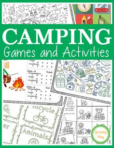 Camping Games and Activities includes 25 fun puzzles, mazes and games to play du… – Adele Pins Camping Activities, Camping Meals, Family Camping, Camping Tips, Camping Recipes, Camping Stuff, Camping Cooking, Backpacking Meals, Camping Gadgets