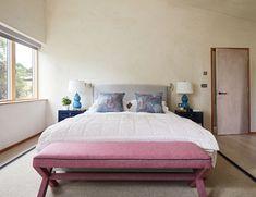 Blue and red bedroom Bedroom Red, Master Bedroom, Devon House, Blue, Furniture, Home Decor, Master Suite, Homemade Home Decor, Home Furnishings