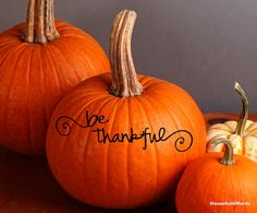 Be Thankful Decal Thanksgiving decor for fall by HouseHoldWords, $5.00