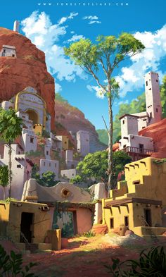 ArtStation - Forest of Liars : The forgotten city, Sylvain Sarrailh