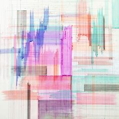 Joan Salo pen on canvas.  love!  need to figure out how to make a fabric that looks like this!!