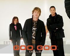 The Goo Goo Dolls are an American rock band formed in 1985 in Buffalo, New York, by guitarist and vocalist John Rzeznik and bassist and vocalist Robby Takac.[1] Since the end of 1994, Mike Malinin has been the band's drummer, a position previously held by George Tutuska.