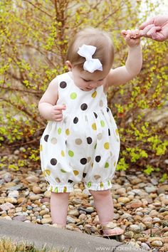 Bubble Romper from a baby dress - this is way too cute!