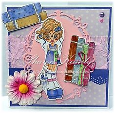 A SC image... Vintage Violet - handcrafted by Sharon Keanly