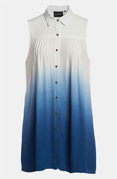 MINKPINK 'Great White' Dip Dye Shirtdress available at Nordstrom