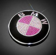 Pink BMW blinged out emblem <3