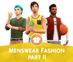 "wyattssims: ""MENSWEAR FASHION part II, CC BY WYATTSSIMSHello all! WyattsSims here to bring in the new year with a new cc pack for the dudes. This cc pack is a Fashion pack, and therefore only includes. Sims 4 Game Mods, Sims Mods, Sims 4 Teen, My Sims, Sims 4 Backyard Stuff, Sims 4 Seasons, Sims 4 Traits, The Sims 4 Packs, Sims 4 Characters"