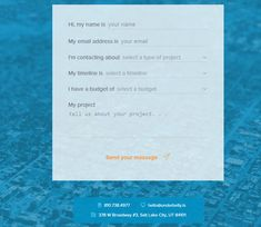 underbelly agency contact form