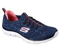 3b910721d2e3 SKECHERS Empire - Sharp Thinking shoe. Soft stretchable sporty knit fabric  upper in a bungee