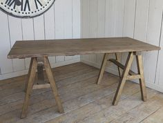 I love the style of this X frame table with a waxed finish it is very practical for seating arrangements. It has a lovely look which would work in a modern or traditional property. It has a been waxed in a nice warm brown which i think looks really nice. Practical and good looking! teamed up with a modern plastic chair for the modern look or team it with a traditional style for a more country look.