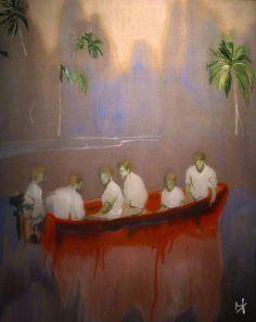 FIGURES in RED BOAT [PETER DOIG, 2005-07]