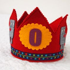 Robot birthday party  boy birthday crown by mosey on Etsy, $32.00