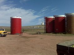 Sowards Oil Field Services repairing Frac Tanks for Kissack Water Service  Gillette Wyoming
