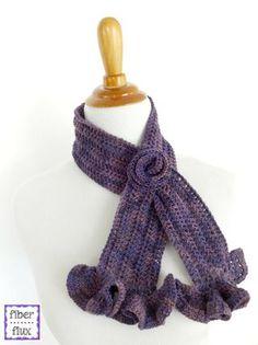 Free Crochet Pattern...Vintage Blossom Keyhole Scarf!