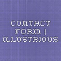 Contact Form | Illustrious Page Template, Templates, Contact Form, Company Logo, Stencils, Template, Western Food, Patterns