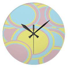 Pastel Circles Wall Clock.  $27.95