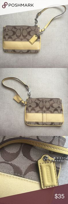 Coach wristlet Authentic Coach brand wristlet. Used only about once or twice. Practically new. Cute stylish and practical! Coach Accessories
