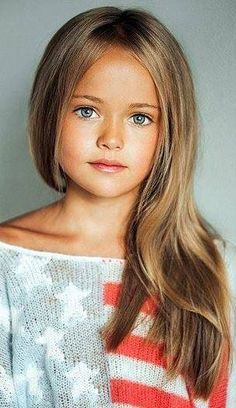 Young Girl's Long Straight Hair.