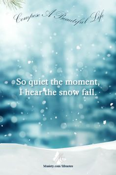 Winter Moments #dailylifenotes
