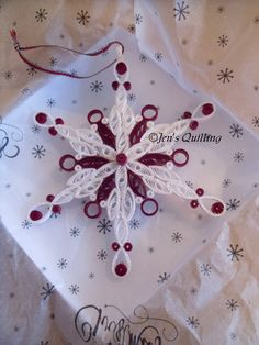 This snowflake ornament has been designed and made by me to the highest possible standard. It is 5 tall. This can be customised to the colour of