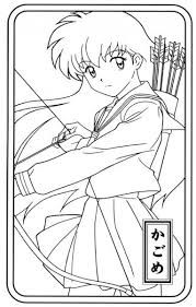 Free Coloring Pages Of Human Inuyasha