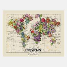 Hela världen i blommor <3