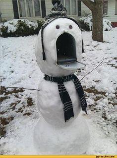 snowman,mailbox
