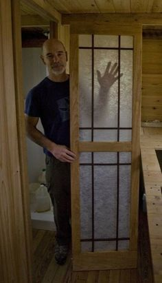 japanese style door for bathroom Tumbleweed Walden SIP Tiny House (Structural Insulated Panels) Sliding Bathroom Doors, Sliding Door, Sip House, Japanese Bathroom, Structural Insulated Panels, Tiny House Bathroom, Bathroom Art, Bathrooms, Small Room Design