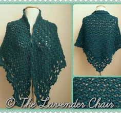Daisy Fields Shawl - Free Crochet Pattern - The Lavender Chair