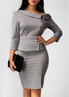 Discount Designer Clothes For Women Classy Outfits, Chic Outfits, Fashion Outfits, Womens Fashion, Cheap Fashion, Work Outfits, African Fashion Dresses, African Dress, Discount Designer Clothes