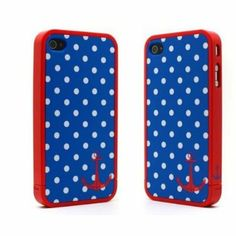 osell wholesale dropship Sailer Polka Dots Travel Case Iphone 4/4s Xmas gift $2.12
