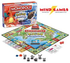 Monopoly: Pokemon Kanto Edition includes 6 collectable metal tokens representing Pikachu, Bulbasaur, Charmander, Squirtle, Eevee and Jigglypuff. Travel through the various gyms collecting various Pokemon such as Nidoking, Ponyta, Muk, Venomoth and more! Houses and Hotels have been replaced with Poke Marts and Pokemon Centres respectively, and Chance and Community Chest cards are now Professor Oak and Trainer Battle Cards for a full Pokemon experience.