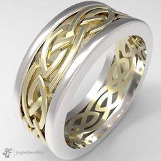 14k Gold Celtic Ring #GoldCelticRing #CelticWeddingRing #GoldRing #CelticRings #CelticRing #IrishRing #Irish Irish Rings, Celtic Rings, Celtic Wedding Rings, Silver Claddagh Ring, Claddagh Rings, Celtic Patterns, Gold Rings, Rings For Men, White Gold