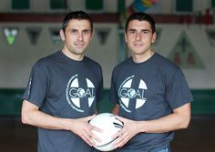Alan and Bernard Brogan show their support for GOAL