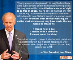 The Violence Against Women Act must be renewed: Joe Biden on rape culture